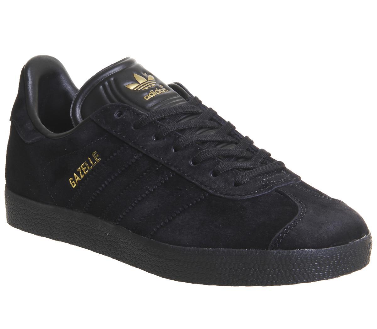 adidas Gazelle Trainers Black Gold