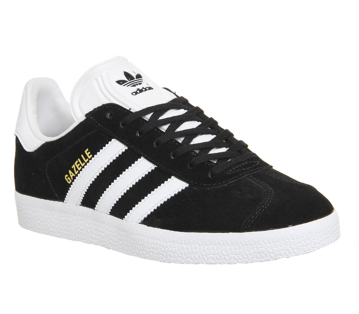 Adidas Gazelle Mens Trainers In Black White   Tenis   Adidas