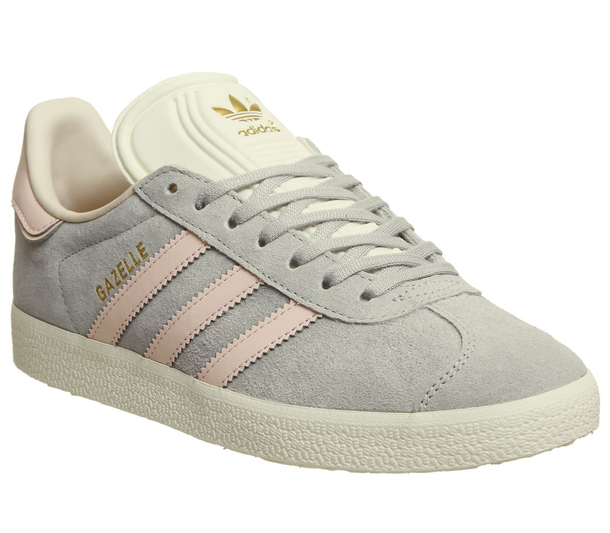 designer fashion f4ed1 e63c8 adidas Gazelle Trainers Grey Two Icey Pink Cream White Exclusive ...