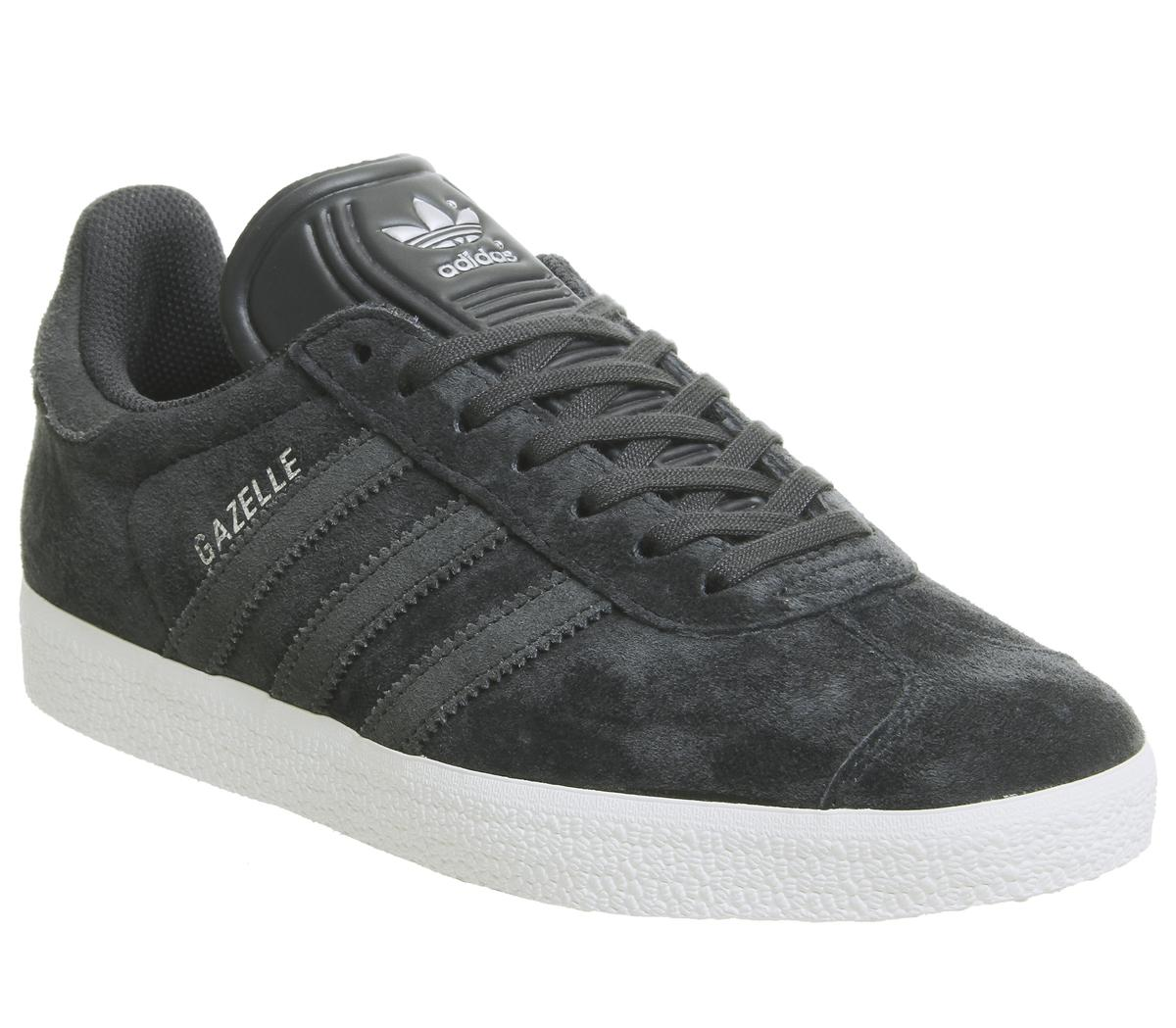 size 40 ae391 07cea adidas Gazelle Trainers Night Grey Carbon Silver Exclusive - Unisex ...