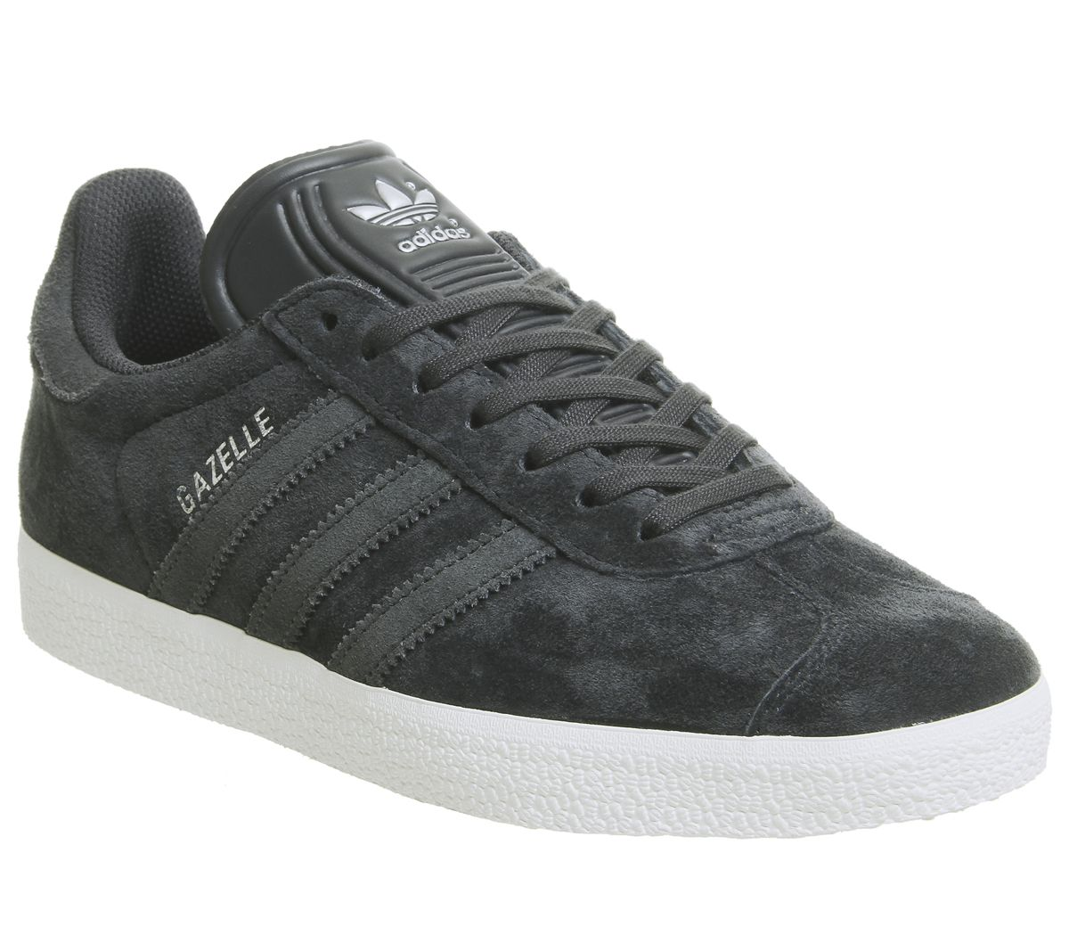 size 40 62357 5a339 adidas Gazelle Trainers Night Grey Carbon Silver Exclusive - Unisex ...