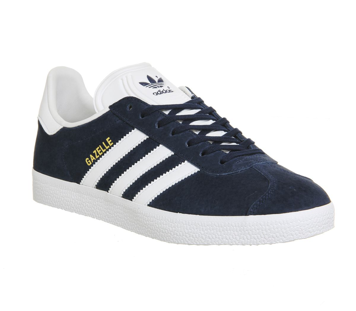 894c67c2cd395 adidas Gazelle Trainers Collegiate Navy White - His trainers