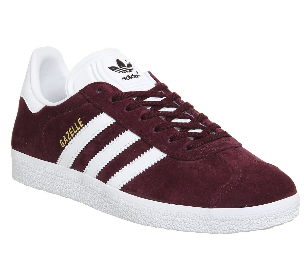 c1f92a5a2d53 adidas Gazelle Trainers Burgundy White Gold Metallic - His trainers