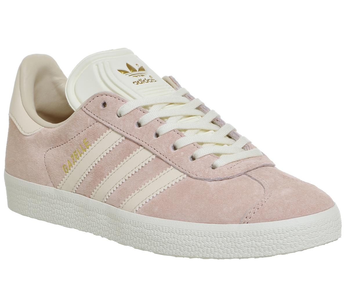 Adidas Originals Gazelle White Pink Trainers Vapour & Womens