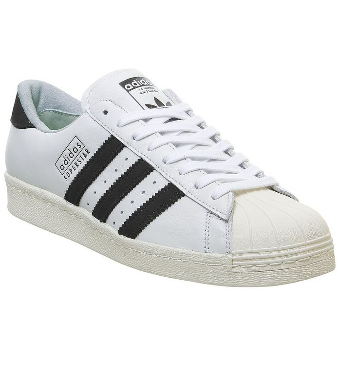 adidas Superstar 80s WHITE CORE BLACK OFF WHITE,White,White and Black