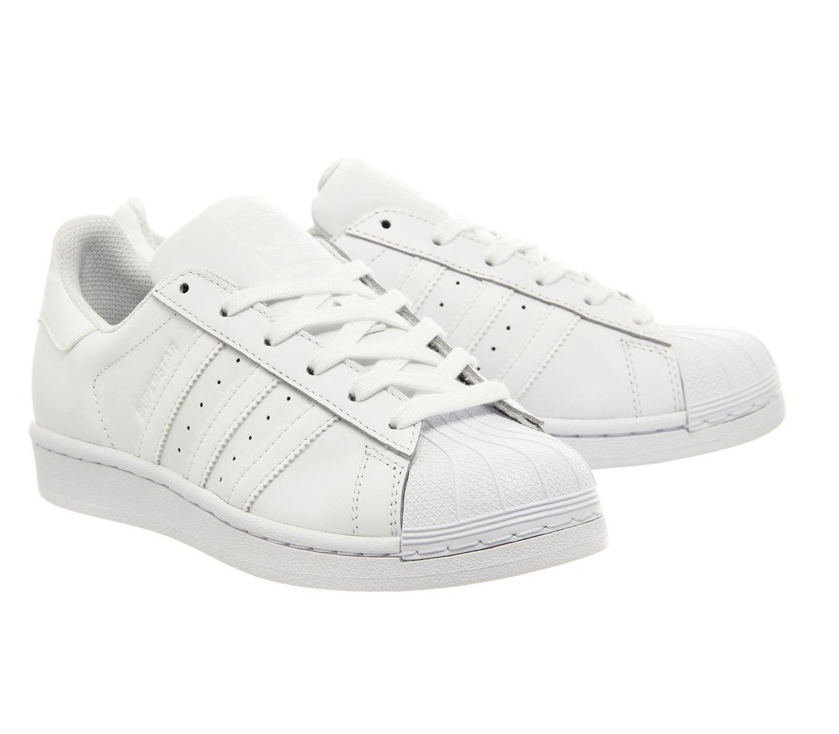 40c2d7426a15ae Adidas Superstar 1 White Mono Foundation - Unisex Sports
