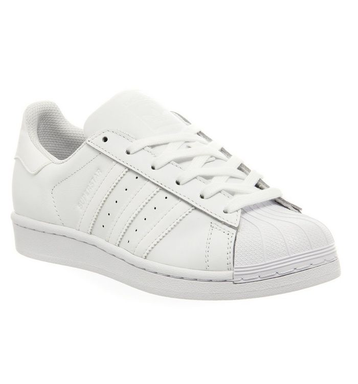 adidas Superstar 1 WHITE MONO FOUNDATION,White,White and Black,Black,White and Orange