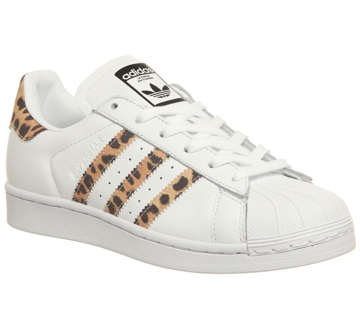 hot sale online 661c3 12e8c adidas Superstar 1 Trainers White Leopard Core Black F - Hers trainers