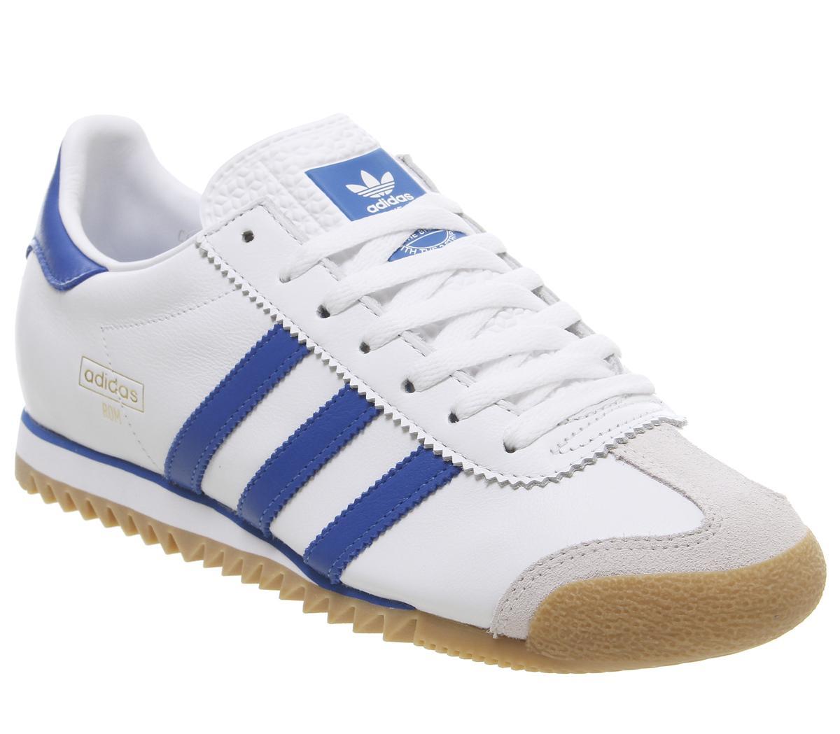 adidas Rom Trainers White Bright Royal