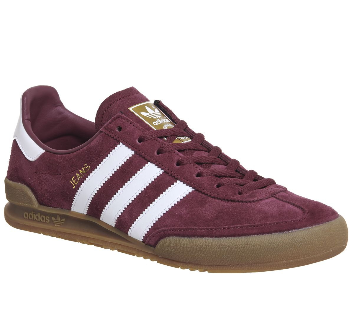 3adc32a5ba57 Adidas Jeans Trainers Maroon White - His trainers