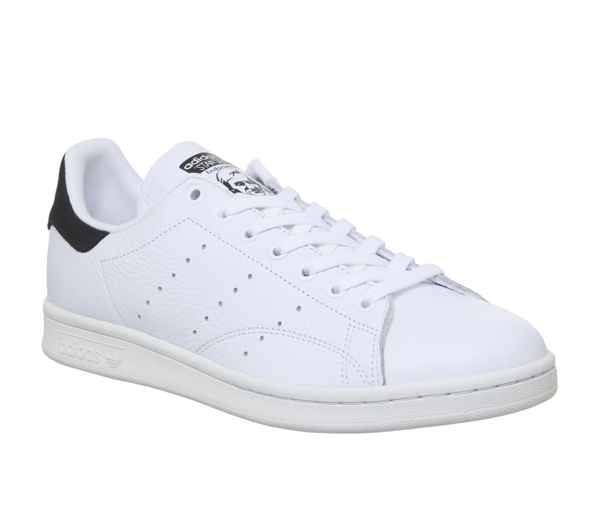 cheaper 1b344 a3457 adidas Stan Smith Trainers White White Core Black - Unisex ...
