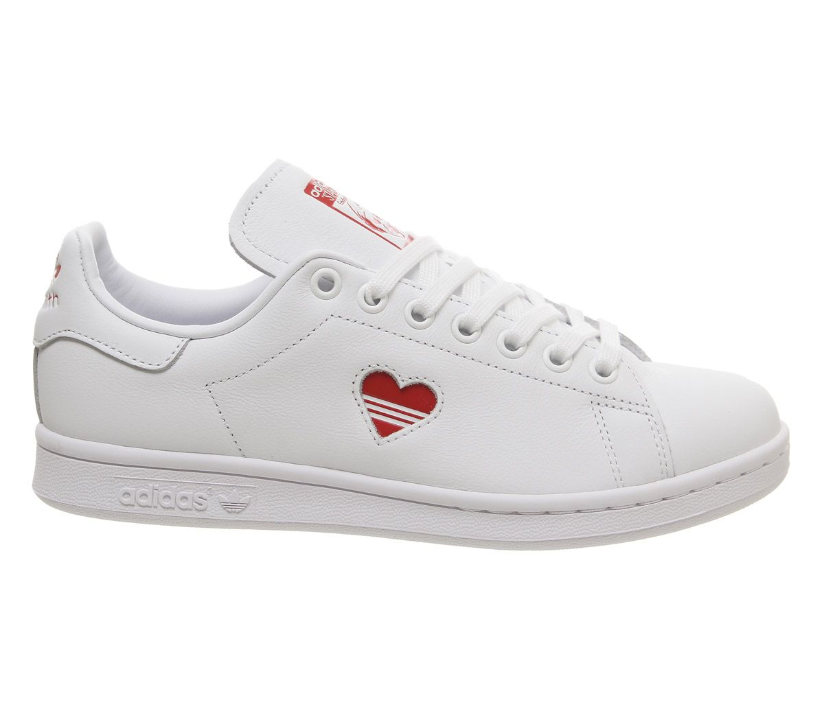50985324a60 adidas Stan Smith Trainers White Red Heart - Hers trainers