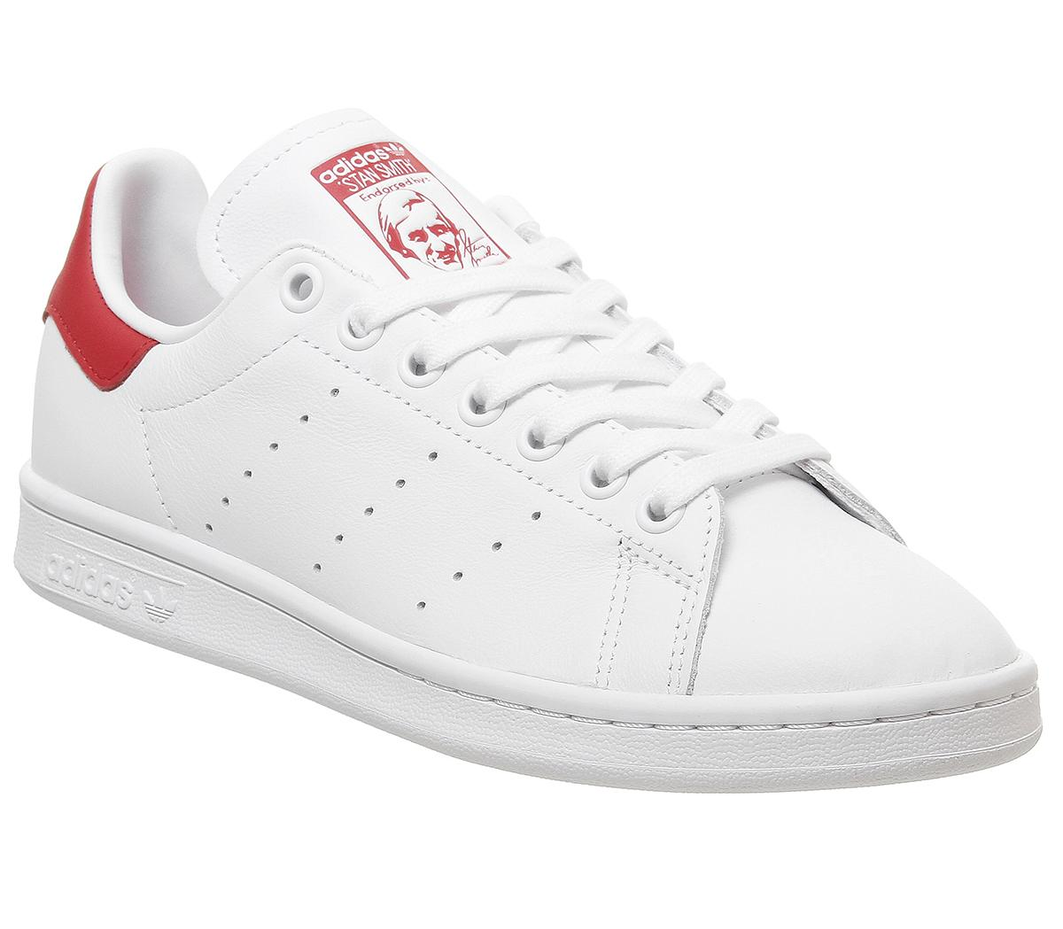 radioactividad de madera gatito  adidas Stan Smith Trainers White Lush Red - Hers trainers