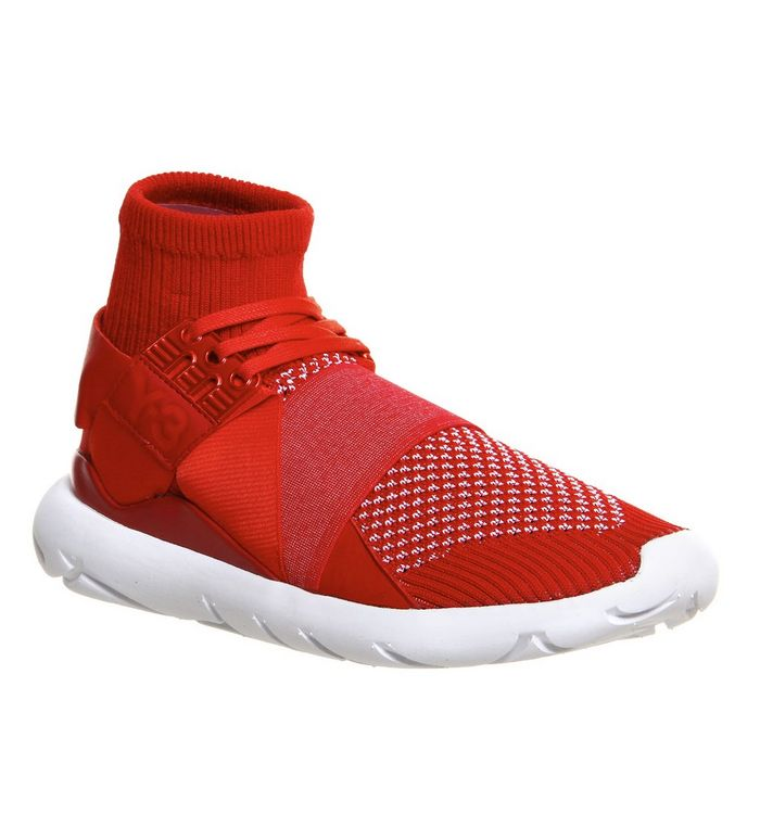6182636aebb07 adidas Y3 Qasa Elle Lace Knit Red Prime Knit - Hers trainers