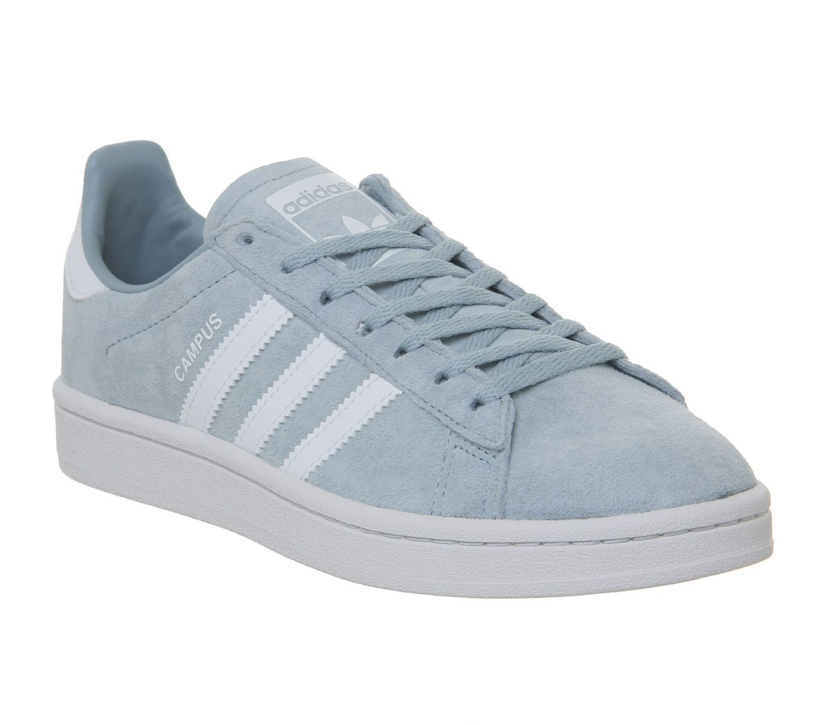 new arrival 08109 3bb02 adidas Campus Trainers Ash Grey White - Hers trainers