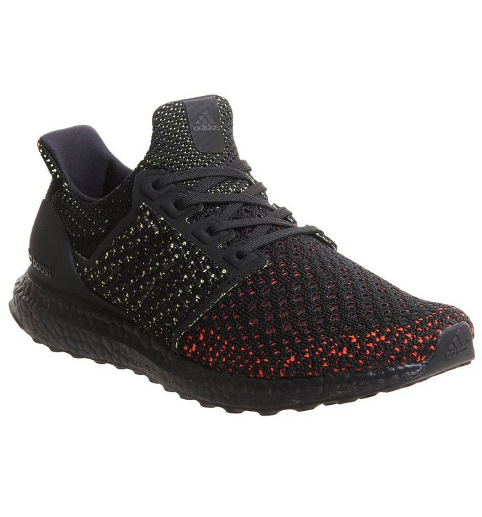 71a1477c7 adidas Ultraboost Ultra Boost Trainers Core Black Solar Red Clima ...