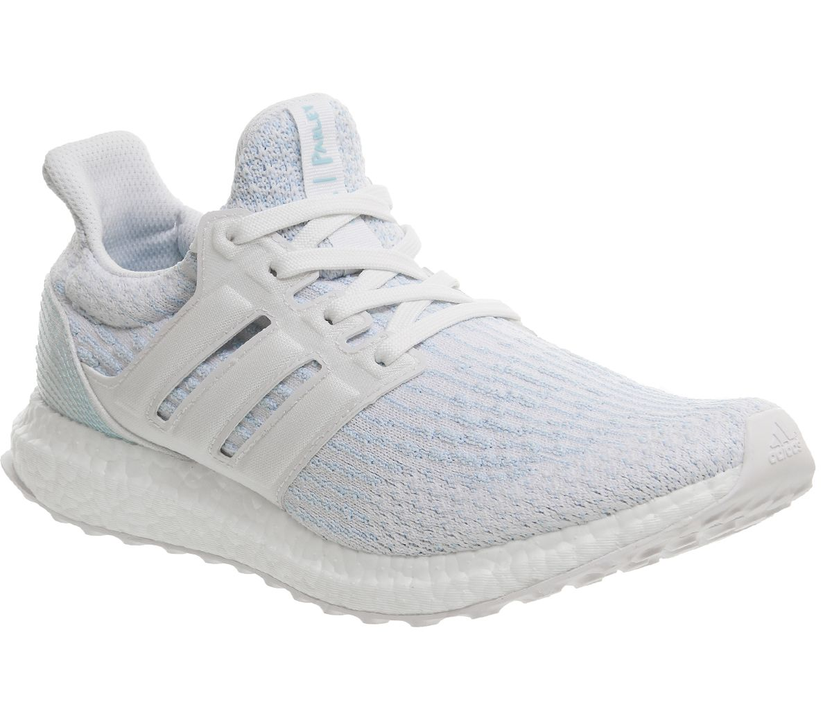 9182e43a6 adidas Ultraboost Ultra Boost Trainers White Icey Blue Parley ...
