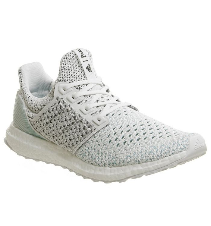 a99d61acb adidas Ultraboost Ultra Boost Trainers Parley White Blue Spirit ...