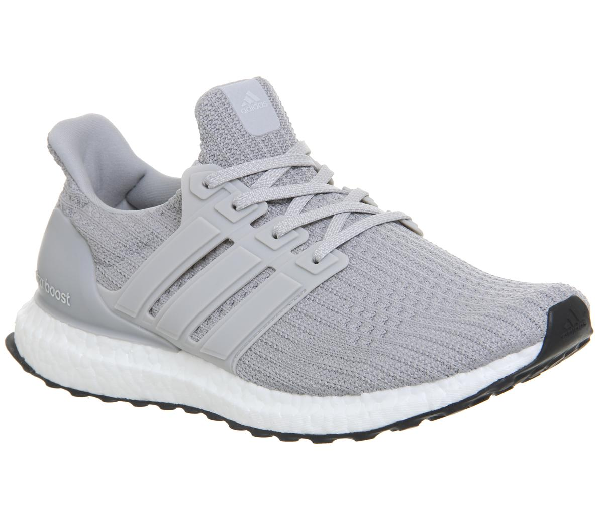9d28d1bf47704 adidas Ultraboost Ultra Boost Trainers Grey Grey Core Black - His ...