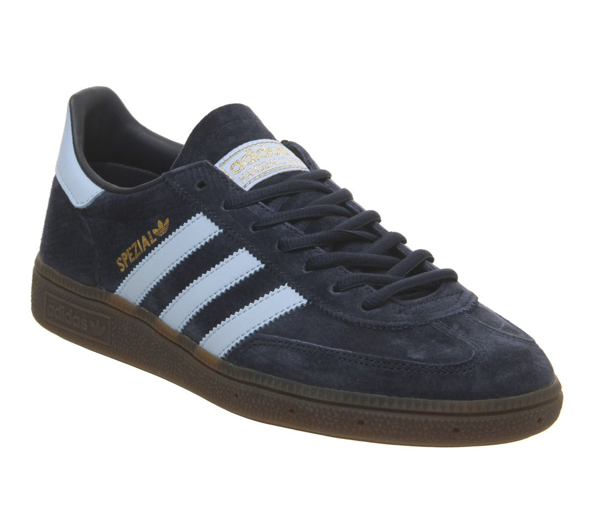 71f36b52b9 adidas Handball Spezial Trainers Collegiate Navy Clear Sky Gum - His ...