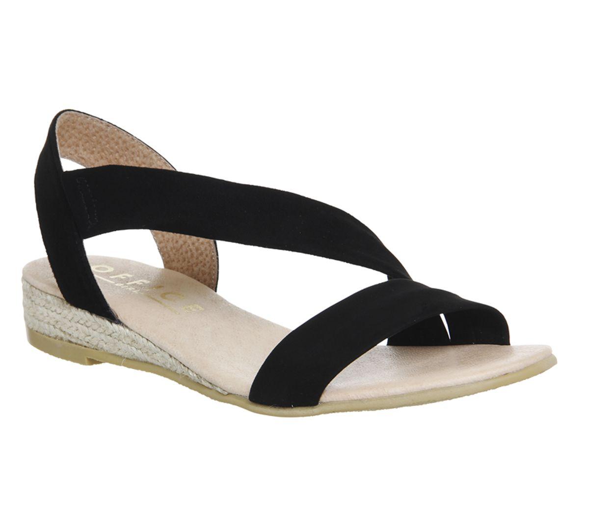 e29f383d3834 Office Heidi Espadrille Sandals Black Suede - Sandals