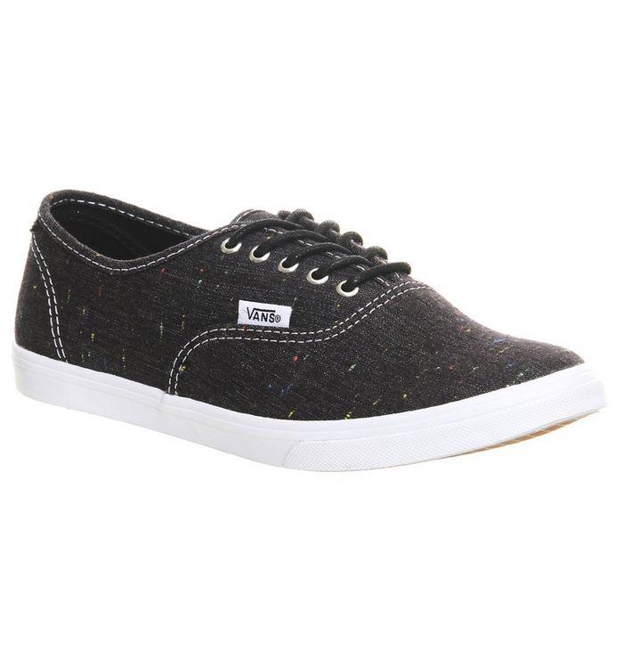 Vans Authentic Lo Pro Black Speckle Linen Junior