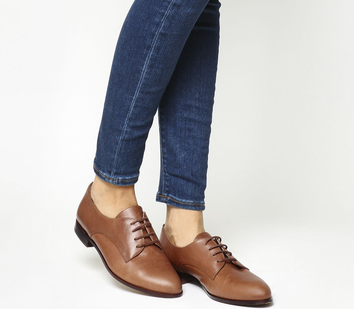 5f05b0c796e67 Office Reach Softy Lace Up Brogues Tan Leather - Flats