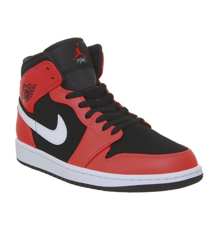 finest selection e6a39 84408 ... Jordan, Air Jordan 1 Mid Trainers, Black Infrared 23 White ...