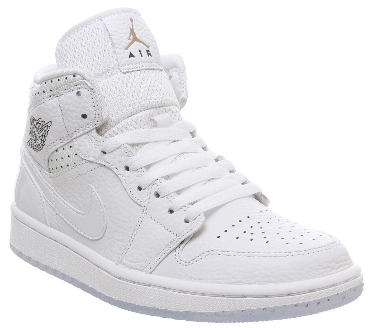 chaussures de sport 7231f b3341 Jordan Air Jordan 1 Mid Trainers White Midnight Navy Rose ...