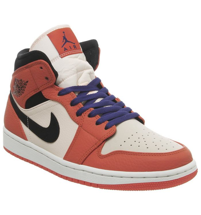 98ceb4c4c589 Jordan Air Jordan 1 Mid Trainers Team Orange Black Crimson Tint Deep ...