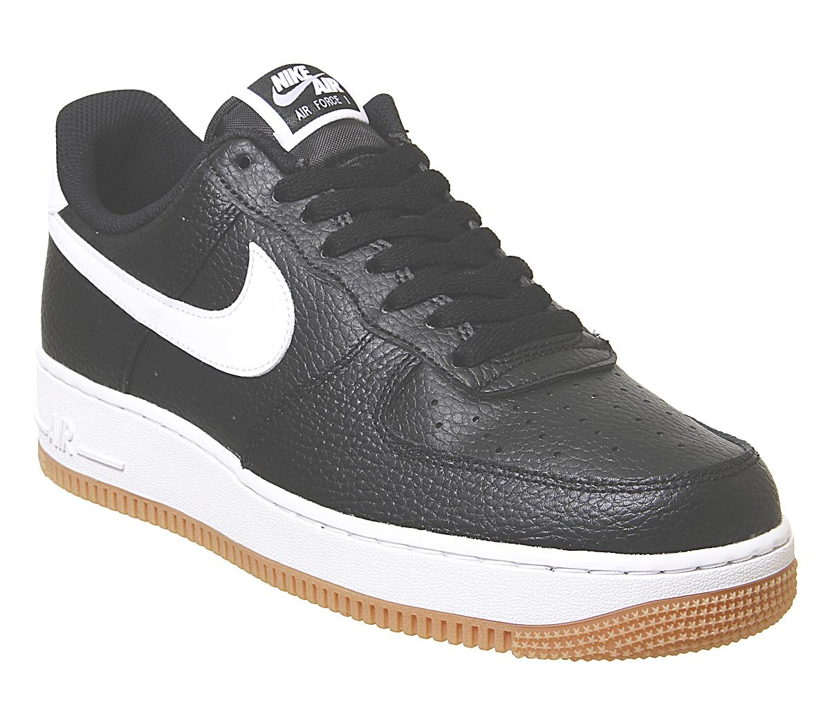 Nike Men Air Force 1 (black white wolf grey gum med brown)
