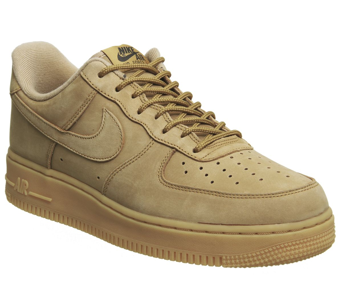 check out b2b5a 5fad6 Nike Air Force 1 Lv8 Trainers Flax Suede Gum - His trainers