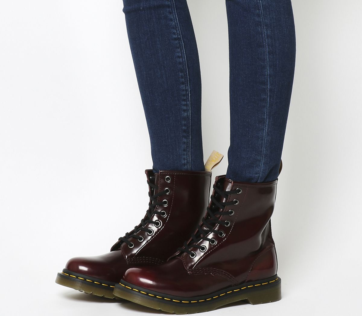 3f2275b8d8e Dr. Martens Vegan 1460 8 Eye Boots Cherry Red Pu - Ankle Boots