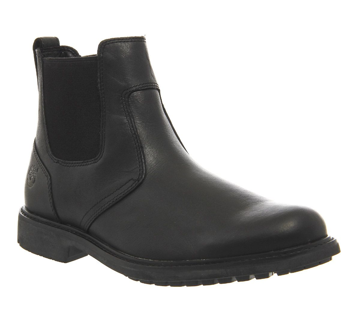 556a362ca Timberland Stormbuck Chelsea Boots Black Smooth Leather - Boots