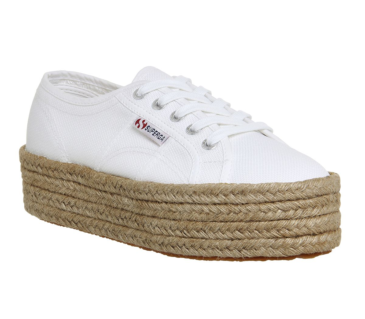 2b56299b7 Superga 2790 White Espadrille - Hers trainers