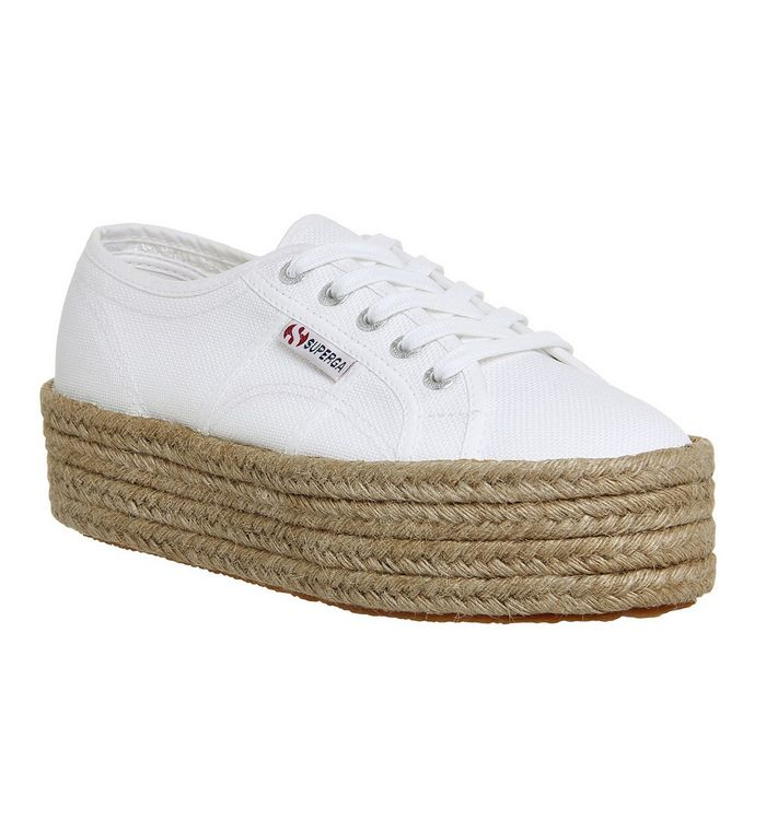 cheap for discount 4fb53 224b8 Superga 2790 White Espadrille - Hers trainers