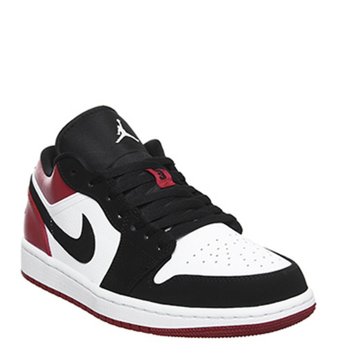 best sneakers 53590 9c96d 15-04-2019 · Jordan Air Jordan 1 Low Trainers White Black Gym Red. £74.99.  Quickbuy
