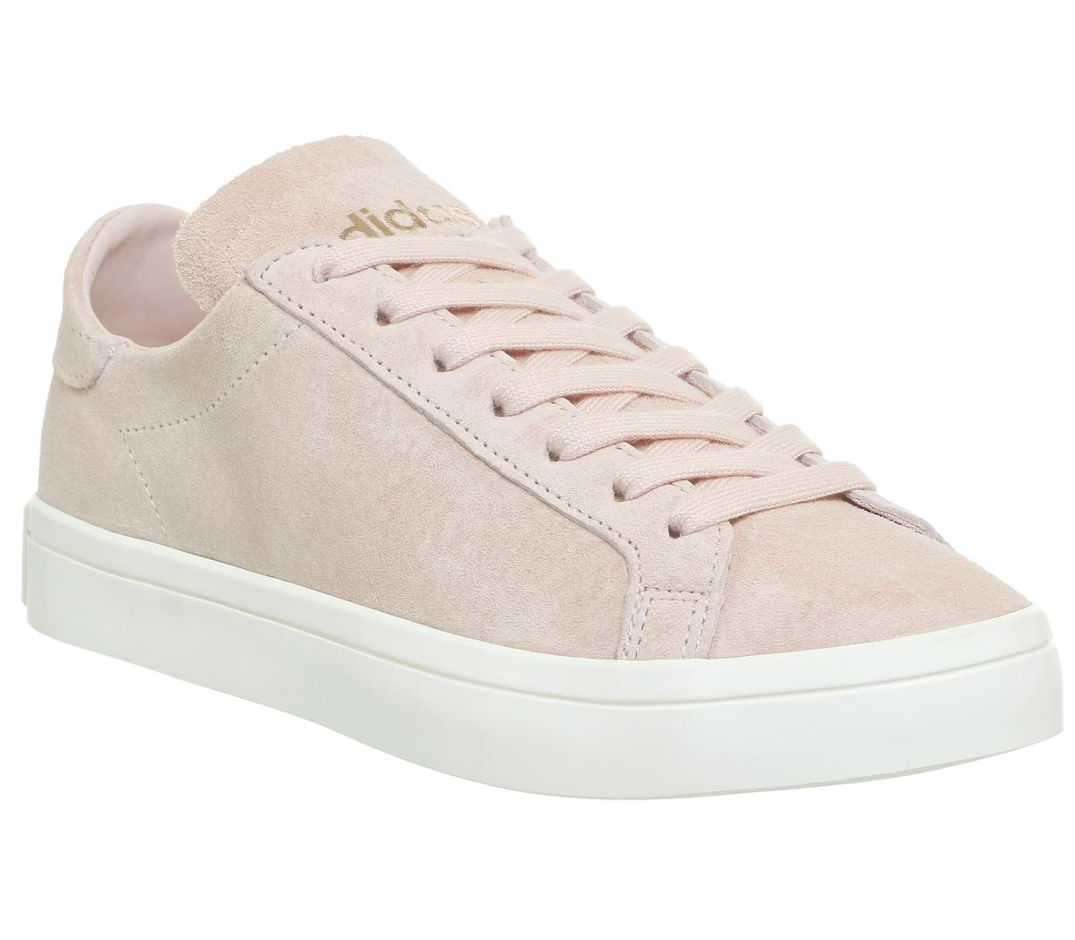 adidas Court Vantage Trainers Vapour Pink Off White ...
