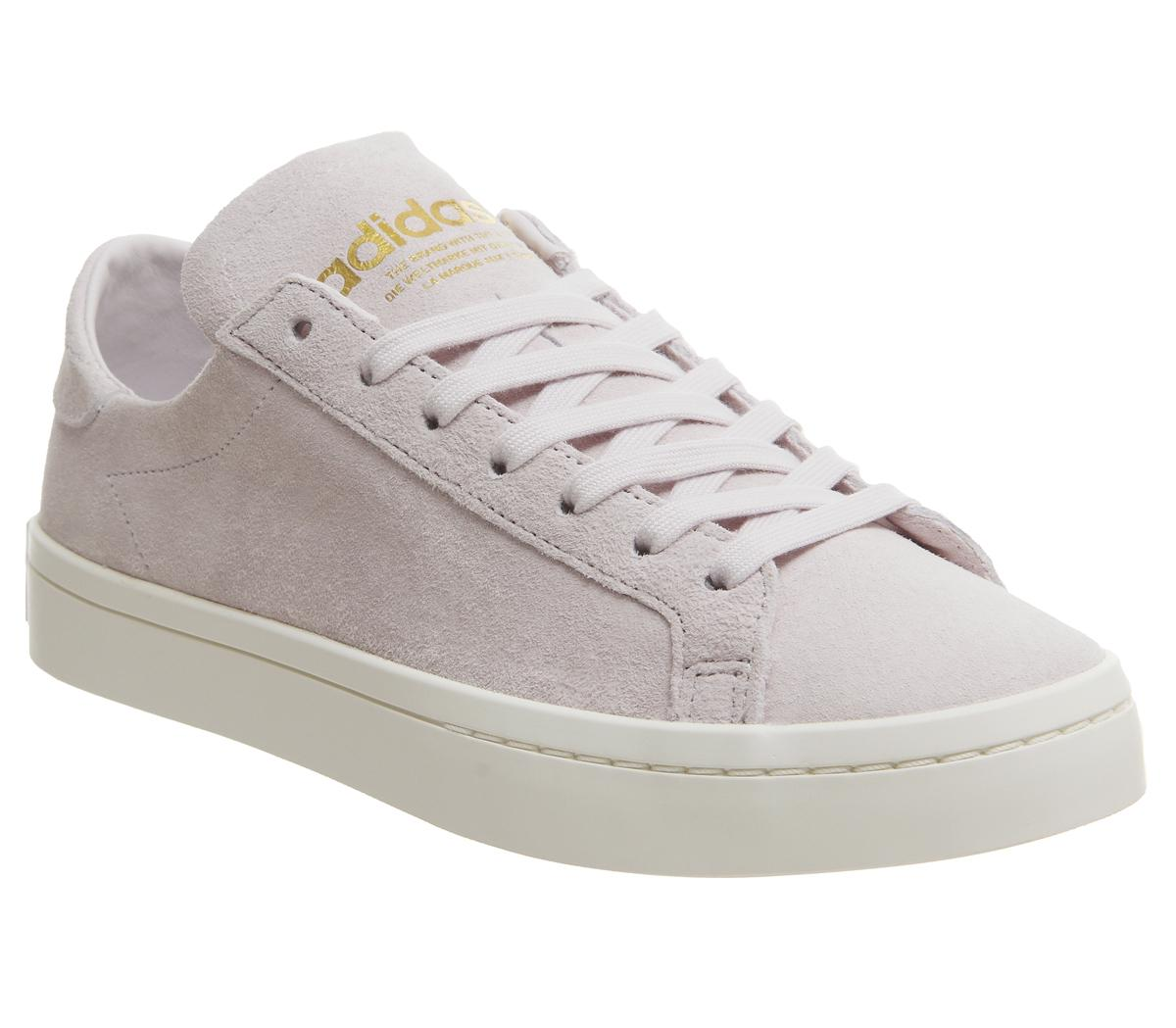 3f6bc703688e adidas Court Vantage Trainers Orchid Tint Gold Metallic Off White ...