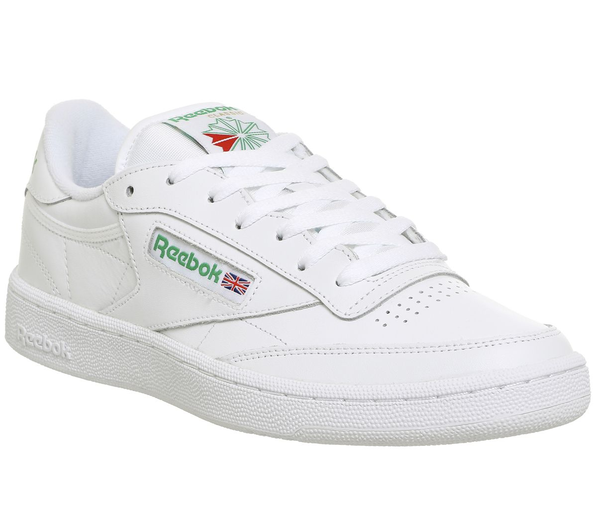 0d8f346784971 Reebok Club C 85 White Green - His trainers