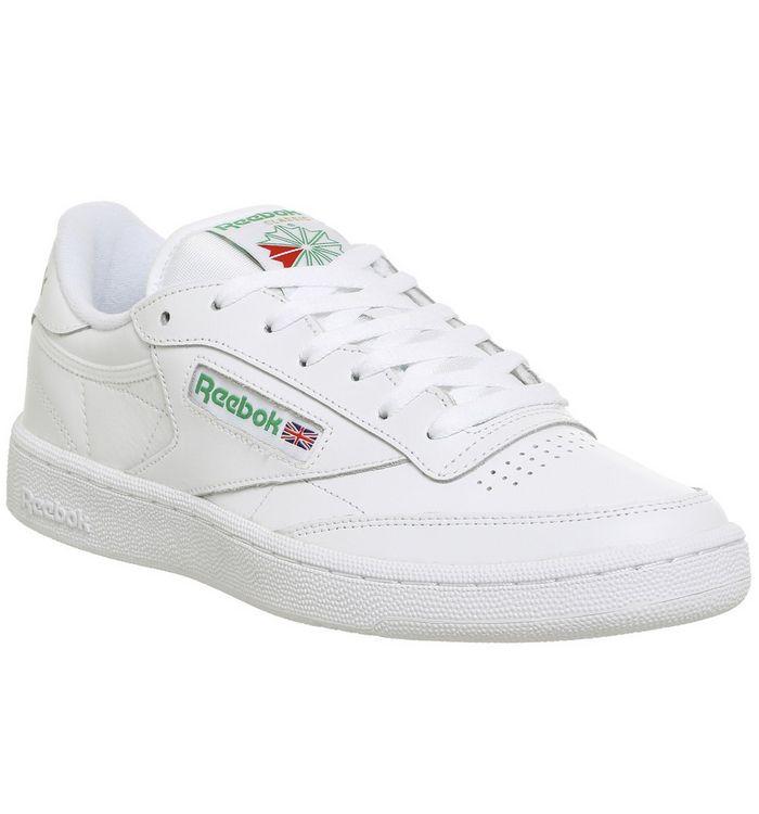 4a44ed5652e Reebok Club C 85 White Green - His trainers