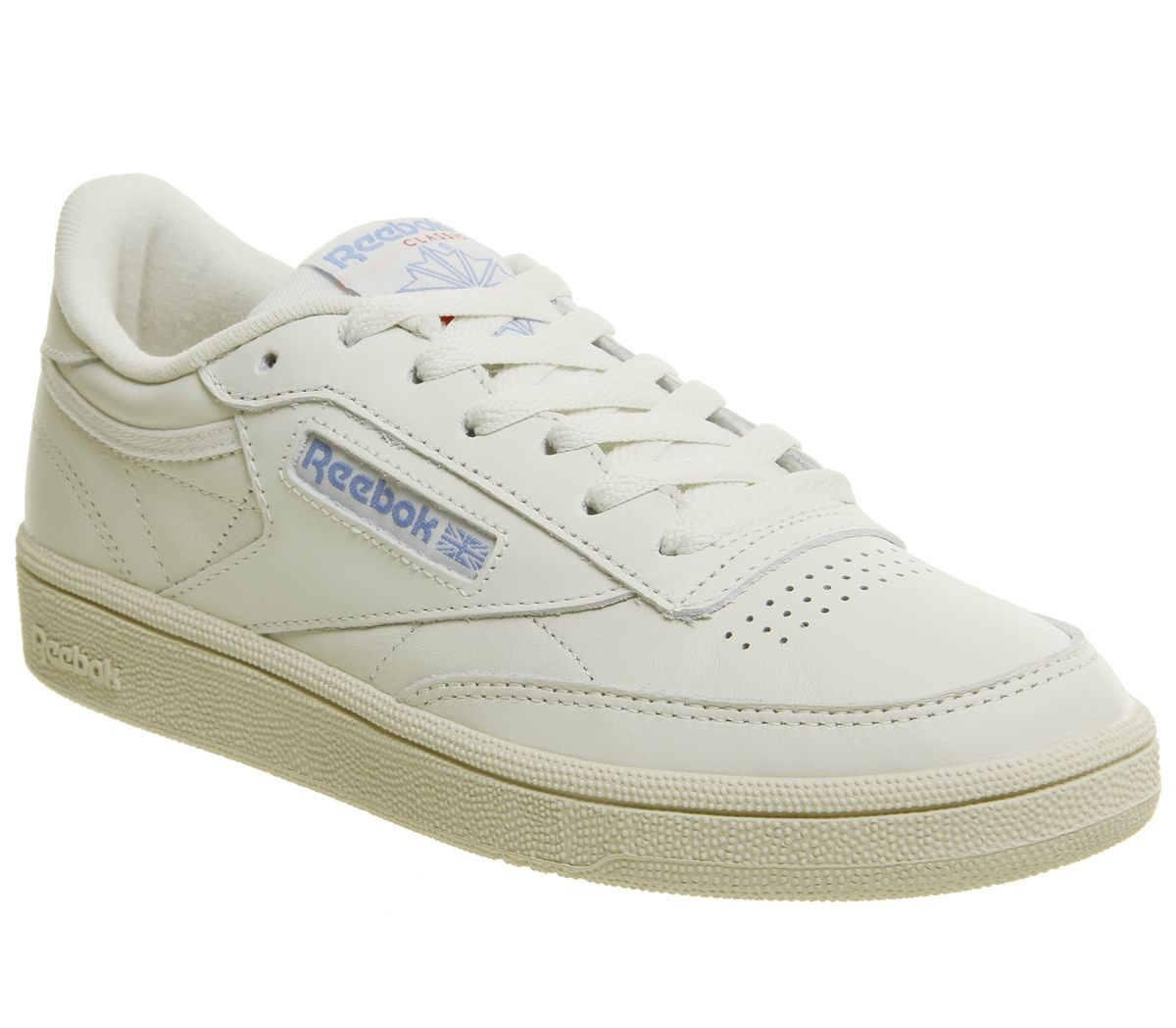 f2051576e5ba2 Reebok Club C 85 Trainers Vintage Chalk Paper White Athletic Blue ...