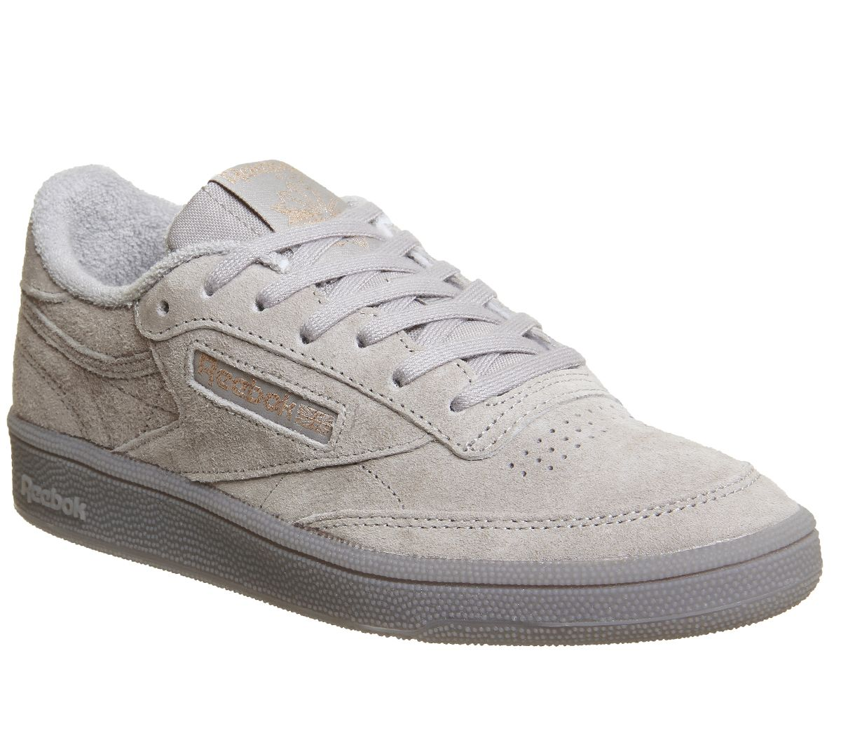 53383e3aa86 Reebok Club C 85 Trainers Skull Grey Rose Gold Exclusive - Hers trainers
