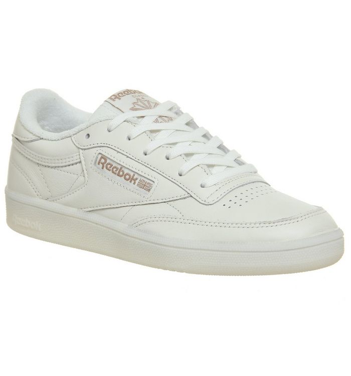 592e5768ca2 Reebok Club C 85 Trainers Chalk Rose Gold Exclusive - Hers trainers