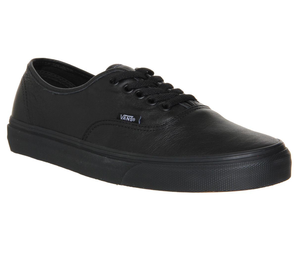 49a8a5de74 Vans Authentic Leather Black Mono - Unisex Sports