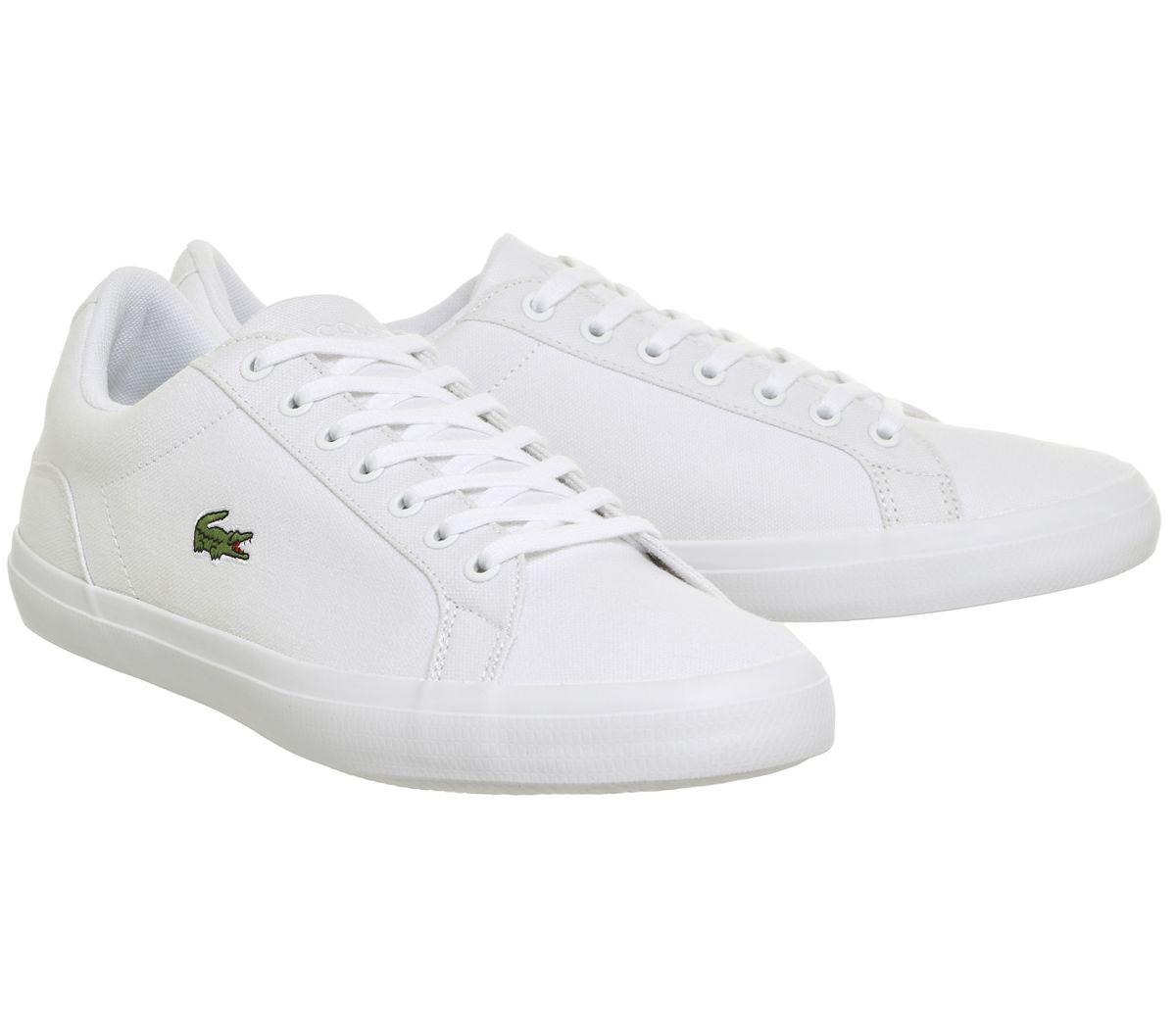 548492c396eb Lacoste Lerond White Canvas - His trainers