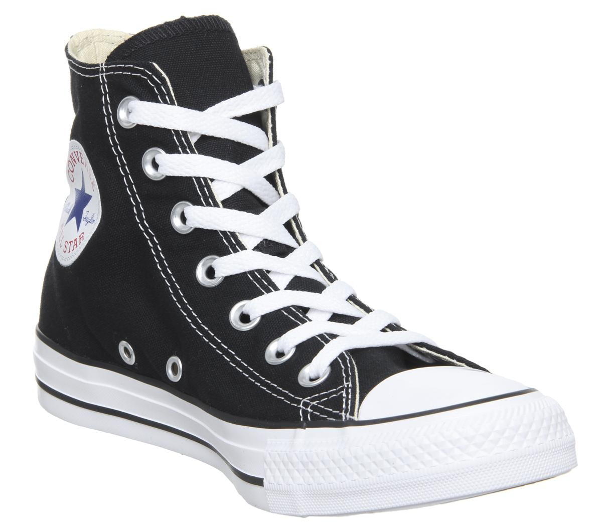 c827816c8a34 Converse All Star Hi Trainers Black Canvas - Unisex Sports