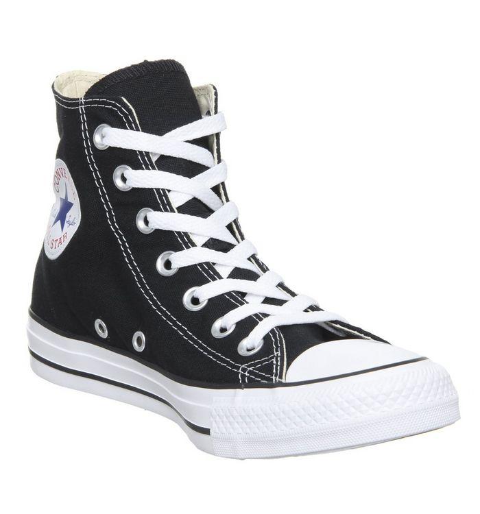 671ec8631c47 Converse All Star Hi Trainers Black Canvas - Unisex Sports