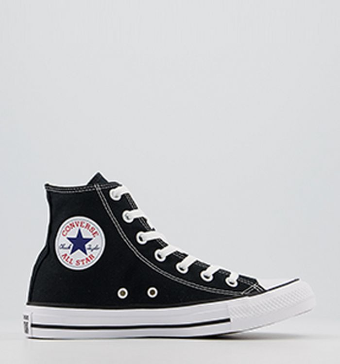 shop for best quality products official shop Converse All Star Hi Trainers Black Canvas - Unisex Sports