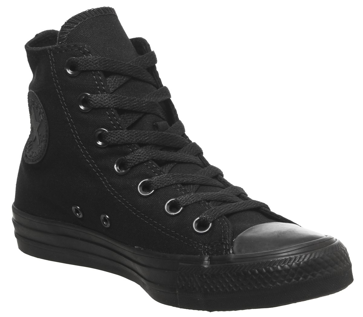 5576a27eb8e10a Converse All Star Hi Black Mono Canvas - Unisex Sports